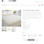 Australian Made Wool Mattress Topper $159 (All Sizes) + Free Shipping @ Woolstarau