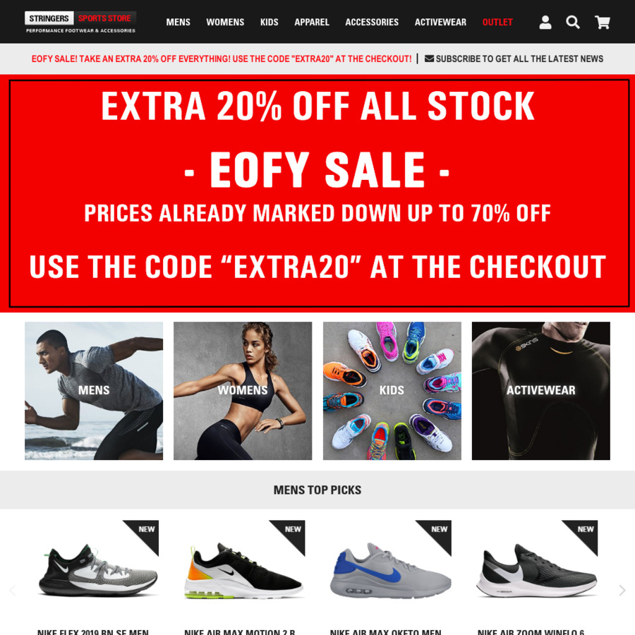 stringer sports discount coupon
