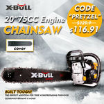 """X-BULL 75cc Petrol Commercial Chainsaw 20"""" Bar Chain Saw E-Start Pruning New $116.91 Delivered @ Eastbay Auto eBay"""