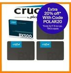 Crucial BX500 SSD 480GB $58.94, 960GB $119.96 + Delivery (Free with eBay Plus) @ Apus Auction eBay