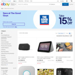 15% off (Max Discount $1000) - Sony WH1000XM3B $335.75 | Google Home Max $254.15 | Chromecast 3 $50.15 C&C @ The Good Guys eBay