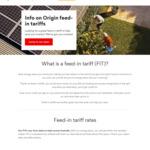 [NSW] Origin Energy - Solar Optimiser Plan - FIT 21c/kWh