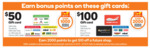 2000 Points on $100 Webjet, Ultimate Him or Good Food GC | 1000 Points on $50 Ultimate Students, Kids or Home @ Woolworths