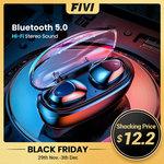 FIVI TWS Bluetooth 5.0 Earphones & Charging Case $10.80 US (~$15.98 AU) Delivered @ FIVI AliExpress