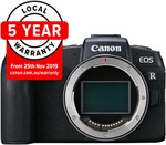 "Canon EOS RP Body with Bonus ""Lucky Strap"" $1159.20 (or $1059.20 after Canon Cash Back) + Delivery ($9.95) @ CameraHouse eBay"