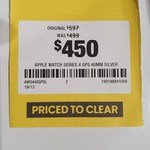 Apple Watch Series 4 GPS 40mm Silver $450 @ Officeworks