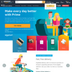 Get $20 Credit When You Signup to Amazon Prime (Min Spend $30 Use within 14 Days) @ Amazon AU