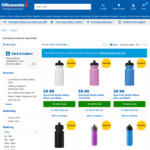 Water Bottle from $0.98, Stainless Steel Bottle from $3 @ OfficeWorks (C&C Available)