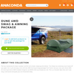 Dune Awning and Swag Package $249 (RRP $619.98) + $18.99 Delivery @ Anaconda (Club Membership Required)