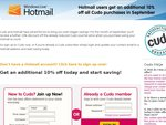 Hotmail Users - Additional 10% off All Cudo Purchases in September
