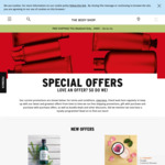 The Body Shop Free Shipping on all Orders (no minimum spend) + up to 50% off Clearance Offers - The Body Shop
