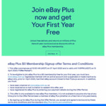 Free 12 Month eBay Plus Sub (Normally $49) for Users Affected by Removal of Flybuys Scheme (New eBay Plus Members) @ eBay