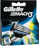 Gillette Mach 3 Shaving Blade Refill 5 Pack $8.25 (Half Price) @ Woolworths