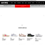 Extra 20% off Storewide (New/Sale Items) + Free Shipping on Orders over $130 @ HYPE DC
