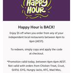 $5 off (Independent Local Restaurants) @ Menulog
