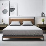 Zinus Suzanne King Size Metal and Pine Wood Platform Bed Frame with Headboard $288 Delivered (RRP ~$355) @ Amazon AU