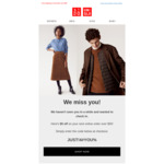 $5 off $50 Spend @ Uniqlo (Possibly Targeted)
