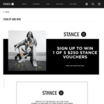 Win 1 of 5 $250 Stance Socks Vouchers from Stance