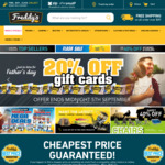 20% off Giftcards @ Freddys