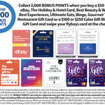 2000 flybuys Points (Worth $10) with eBay $50 Gift Card or $100 Coles Gift Mastercard + $5 Fee @ Coles (Once Per Account)