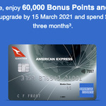 Upgrade from Qantas Discovery to Ultimate for 60k Points + $200 Cashback + $450 Travel Credit ($450 Annual Fee)