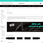 20% off selected GHD Electrical Stylers + Free Delivery @ Adore Beauty