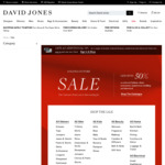 David Jones up to 50% off Sale (Online and in Store) + Delivery ($0 with $50 Order)