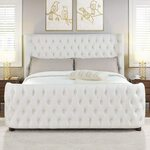 Ballina Luxury Bed Frame Queen Off White and Grey $1130 (Was $1650) + Delivery @ Superior Furniture