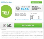 (NSW) Electricity 16.5ish% Discount (3 Year Contract) if You Switch to TRUEnergy