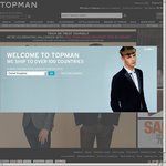 Topman Free Worldwide Shipping for a Limited Time!