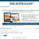 2013 The Australian Uni Offer - $20 Digital Pass (Access until March 2014)