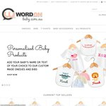 20% OFF Personalised Baby Onsies, Baby T-Shirts, Bibs, Beanies & More. Plus FREE Delivery