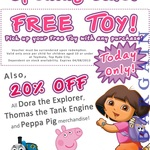 [Top Ryde City NSW] Free Kid's Toy with Any Purchase at Toymate, Plus 20% off Popular Ranges