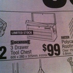 Sidchrome [SCMT50203] 3 Drawer Tool Chest $99 @ Bunnings