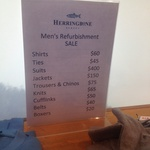 Herringbone Pop-up Store Up To 70% off Shirts, Suits etc. (incl 4 shirts for $200) George St Syd