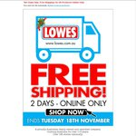 Free Shipping 2 Days Only @ Lowes Online