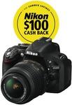 Nikon D5200 Single Lens Kit $599 After $100 Cash Back @ The Good Guys