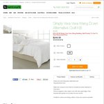 Vera Wang down Alternative Super King Quilt $149.95 (Good for Queen Bed) @ Harris Scarfe
