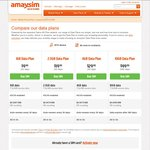 Amaysim 30% off All Mobile Broadband Data Pack. 10GB/365 Days Expiry $69.93. First Order Only