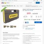 "STANLEY 50 Piece Microtough Socket Set 1/4"" 1/2"" Drive $69 Delivered @ Supercheap Auto eBay"