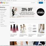 eBay 20% off Cameras, Lenses & Other Wedding Related Items from International Sellers
