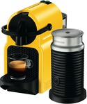 Nespresso DeLonghi Inissia Capsule Machine (Yellow) + Aeroccino3 Frother + 16 Pods - $99 (after $50 Cashback) @ The Good Guys