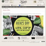 Kiehl's 15% off Site Wide + Free Shipping over $35