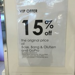 15% off All Bose, Bang & Olufsen and GoPro at Myer
