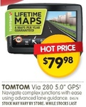 "TomTom Via 280 5.0"" GPS $79.98, JVC 55"" UHD LED TV $999 (Save $300) @ Dick Smith"