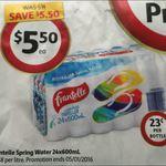 Frantelle 24x 600ml Bottled Water $5.50 @ Coles (23/12)
