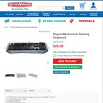 Rapoo Mechanical Gaming Keyboard V800 $49 (Was $168) (C&C or up to $28 Shipping) @ RetraVision