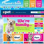 Spend & Save up to $70 @ PETstock (Ends Tonight)