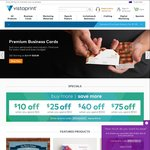 Vistaprint $10 off When You Spend $25 | $25 off $50 | $40 off $100 | $75 off $150