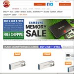 Samsung Flash Memory Drive Cards Buy 2 Get 1 Free & Free Shipping @ Shopping Express